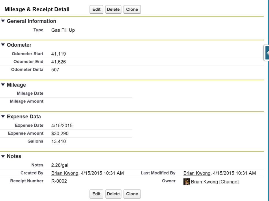tracking mileage receipts with salesforce1 the wizard news