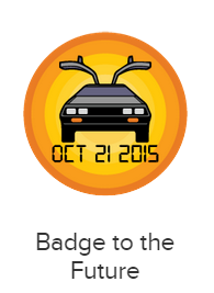 Badge of the future available only on 10/21/2015