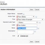 Salesforce Quick Action with Flow