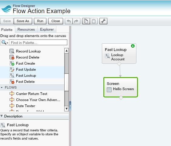 Salesforce User Flow: My Favorite Salesforce Winter'18 Feature: Flow Action