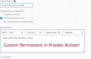 Custom Permissions in Process Builder