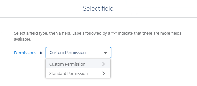 Select Custom Permissions