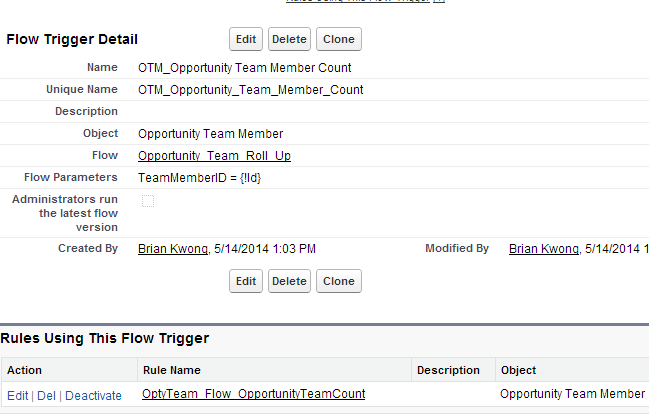 A Flow Trigger on an Opportunity Team Member