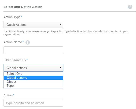 Process Builder Quick Actions